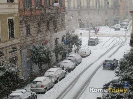 la nevicata de l'11 febbraio 2012